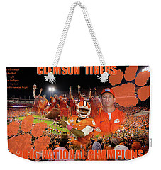 Clemson National Champs Weekender Tote Bag