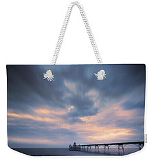 Clevedon Pier Weekender Tote Bag by Dominique Dubied