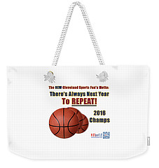 Cleveland Basketball 2016 Champs New Motto Weekender Tote Bag