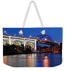 Cleveland Colored Bridges Weekender Tote Bag