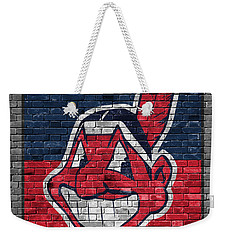 Cleveland Indians Brick Wall Weekender Tote Bag
