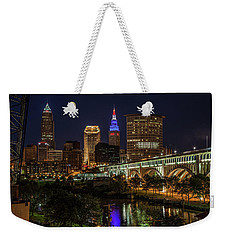 Cleveland Nightscape Weekender Tote Bag