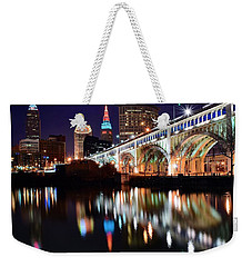 Cleveland Ohio Skyline Weekender Tote Bag