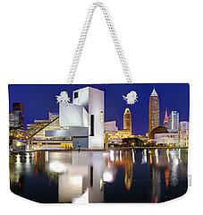 Cleveland Skyline At Dusk Weekender Tote Bag