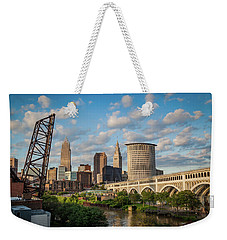 Cleveland Summer Skyline  Weekender Tote Bag
