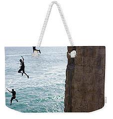 Cliff Diving Weekender Tote Bag