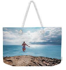 Cliff Jumping Weekender Tote Bag