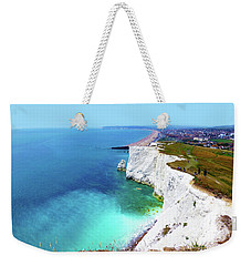 Weekender Tote Bag featuring the photograph Cliff Landscape by Francesca Mackenney