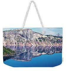 Weekender Tote Bag featuring the photograph Cliff Rim Of Crater Lake by Frank Wilson