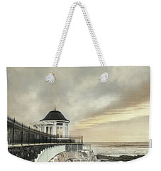 Weekender Tote Bag featuring the photograph Cliff Walk Newport by Robin-Lee Vieira