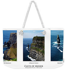 Cliffs Of Moher Ireland Triptych Weekender Tote Bag