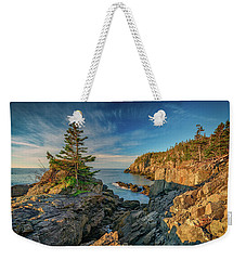 Weekender Tote Bag featuring the photograph Cliffs Of Quoddy Head State Park by Rick Berk