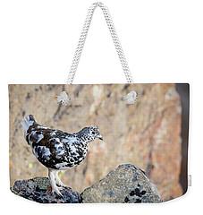 Cliffside Ptarmigan Weekender Tote Bag