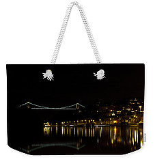 Clifton Suspension Bridge At Night Weekender Tote Bag