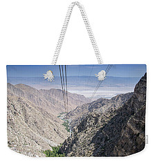 Climbing Mount San Jacinto Weekender Tote Bag