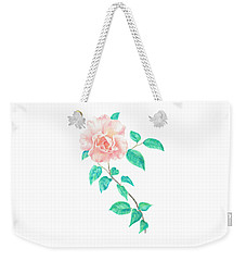 Weekender Tote Bag featuring the painting Climbing Rose by Elizabeth Lock