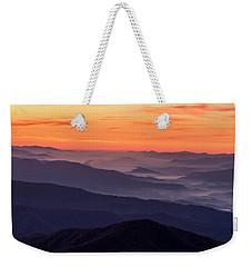 Clingmans Dome Fall Sunrise Weekender Tote Bag