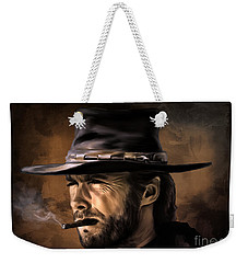 Weekender Tote Bag featuring the digital art Clint by Andrzej Szczerski