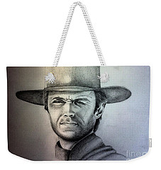 Clint Eastwood Portrait  Weekender Tote Bag