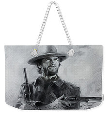 Clint Eastwood Weekender Tote Bag by Viola El