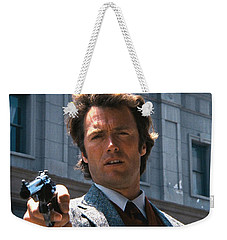 Clint Eastwood With 44 Magnum Dirty Harry 1971 Weekender Tote Bag by David Lee Guss