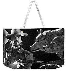 Clint Eastwood With Wolves Weekender Tote Bag