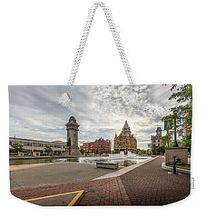 Weekender Tote Bag featuring the photograph Clinton Square by Everet Regal