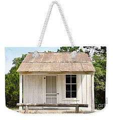 Weekender Tote Bag featuring the photograph Clint's Cabin - Texas - Close-up by Ray Shrewsberry