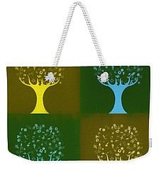 Weekender Tote Bag featuring the mixed media Clip Art Trees by Dan Sproul