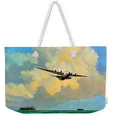 Clipper Over The Islands Weekender Tote Bag by David  Van Hulst