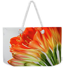 Clivia Miniata 2 Weekender Tote Bag by Shirley Mitchell