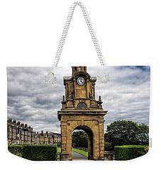 Cllock Tower Weekender Tote Bag by David  Hollingworth