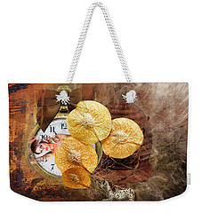 Weekender Tote Bag featuring the digital art Clock Girl by Richard Ricci
