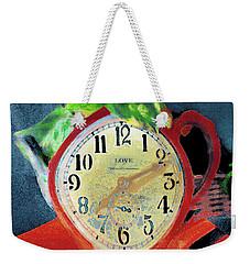 Clock  In The Garden Painting 11 Weekender Tote Bag