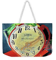 Clock In The Garden Painting 9 Weekender Tote Bag
