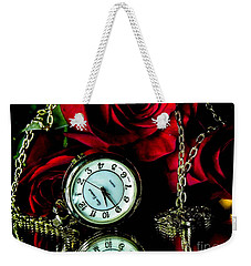 Clock-rose Weekender Tote Bag