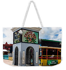 Weekender Tote Bag featuring the photograph Clock Tower by Lawrence Burry
