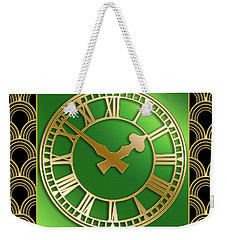 Weekender Tote Bag featuring the digital art Clock With Border by Chuck Staley