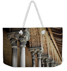 Weekender Tote Bag featuring the photograph Cloister Columns, Couvent Des Jacobins by Elena Elisseeva
