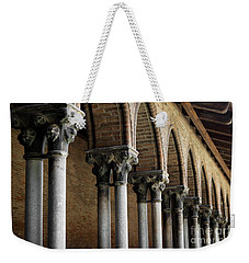 Weekender Tote Bag featuring the photograph Cloister Detail, Couvent Des Jacobins by Elena Elisseeva
