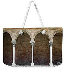 Weekender Tote Bag featuring the photograph Cloister With Arched Colonnade by Elena Elisseeva