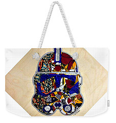 Weekender Tote Bag featuring the tapestry - textile  Clone Trooper Star Wars Afrofuturist by Apanaki Temitayo M
