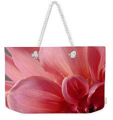 Close-up Dahlia Weekender Tote Bag