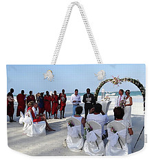 Close Up Kenya Baach Wedding Weekender Tote Bag