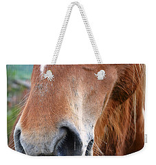 Close - Up Of A Horse Weekender Tote Bag