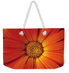Close Up Of An Orange Daisy Weekender Tote Bag by Ralph A  Ledergerber-Photography