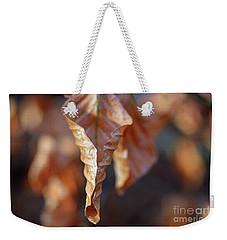 Close-up Of Autumn Leaf Weekender Tote Bag