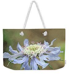 Close Up Of Blue Flower, Scabiosa, Digital Art Weekender Tote Bag