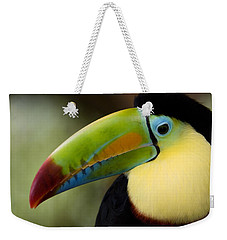 Close-up Of Keel-billed Toucan Weekender Tote Bag