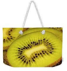Close Up Of Kiwi Slices Weekender Tote Bag